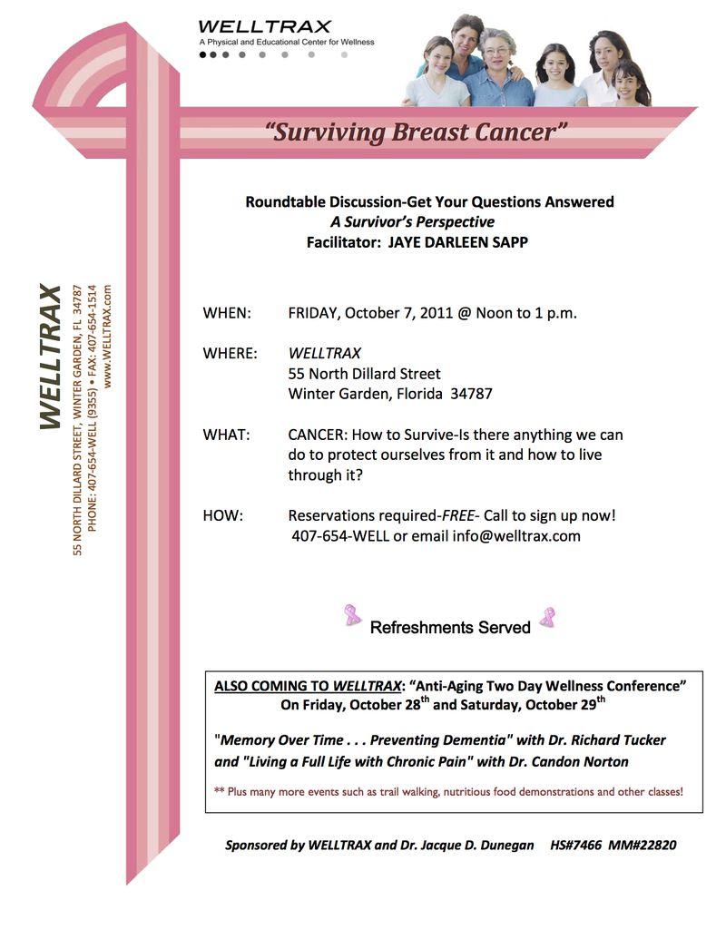 BREAST AWARENESS FLYER--october 7, 2011