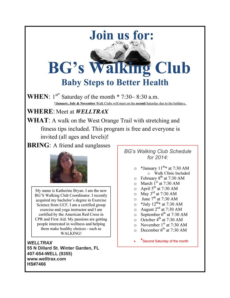 Walk Club Flyer 2014 KAKI