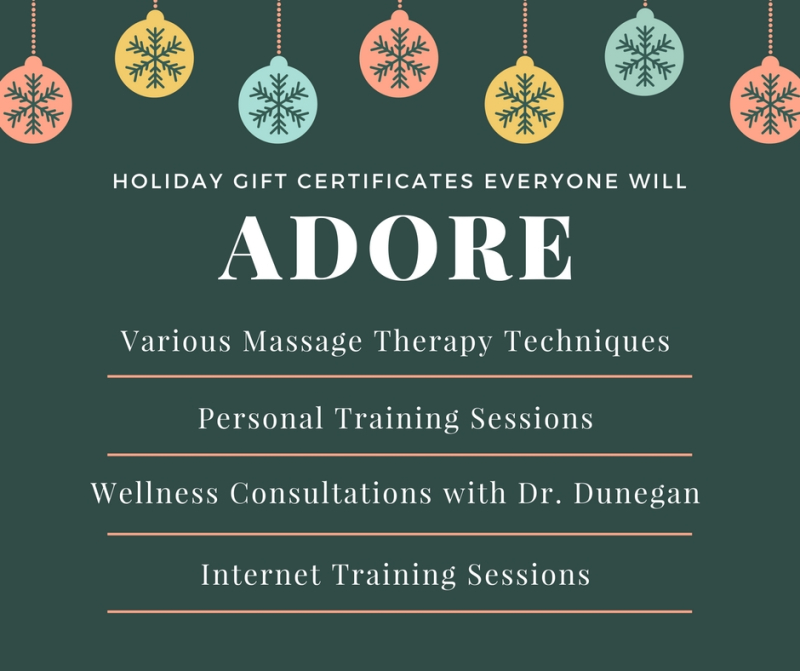 Holiday Gift Certificates for
